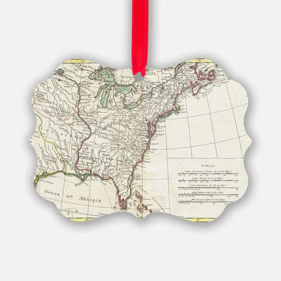 Thirteen Colonies Vintage Map (17 Ornament