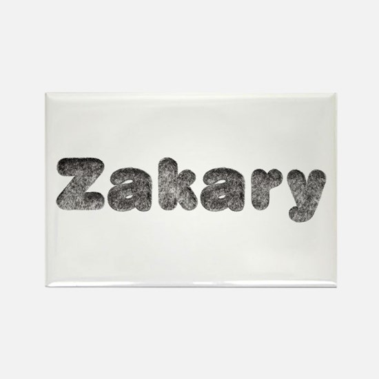 Zakary Wolf Rectangle Magnet