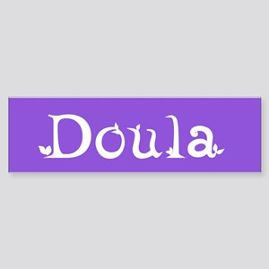 Doula Periwinkle Bumper Sticker