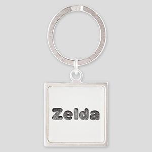 Zelda Wolf Square Keychain