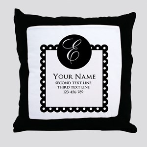 Personalized Texts Throw Pillow
