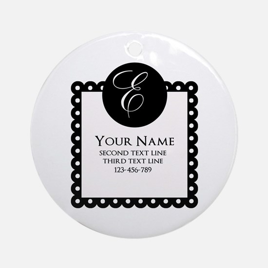 Personalized Texts Ornament (Round)