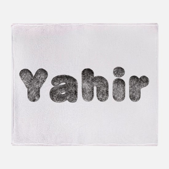Yahir Wolf Throw Blanket