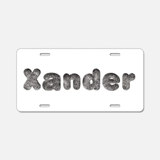 Xander Wolf Aluminum License Plate