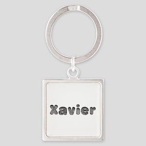 Xavier Wolf Square Keychain