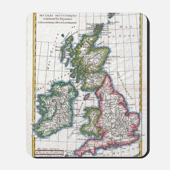 Vintage Map of The British Isles (1780) Mousepad