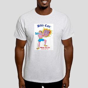 BIBLE CATS Ash Grey T-Shirt