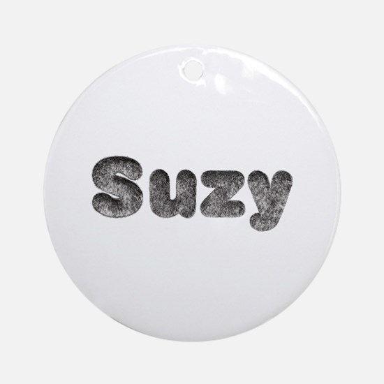 Suzy Wolf Round Ornament