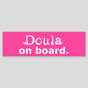 Doula on Board Bumper Sticker