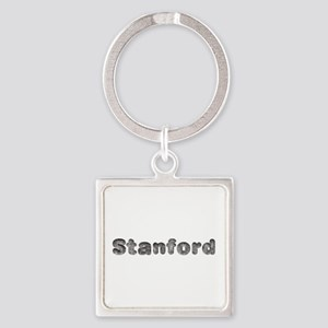 Stanford Wolf Square Keychain