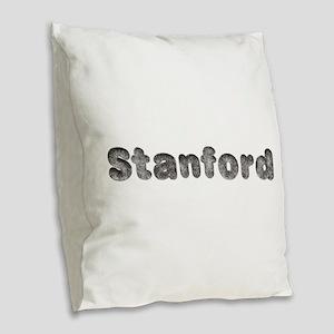 Stanford Wolf Burlap Throw Pillow