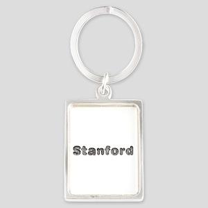 Stanford Wolf Portrait Keychain