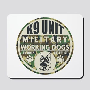 K9 Unit Military Working Dogs Mousepad