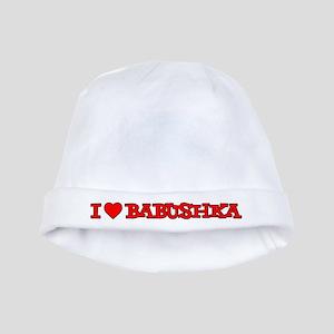 I Love Babushka Baby Hat