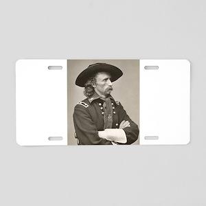 george custer Aluminum License Plate
