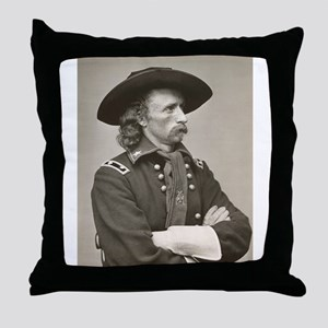 george custer Throw Pillow