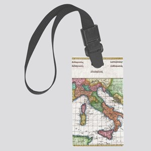 Vintage Map of Italy (1780) Large Luggage Tag