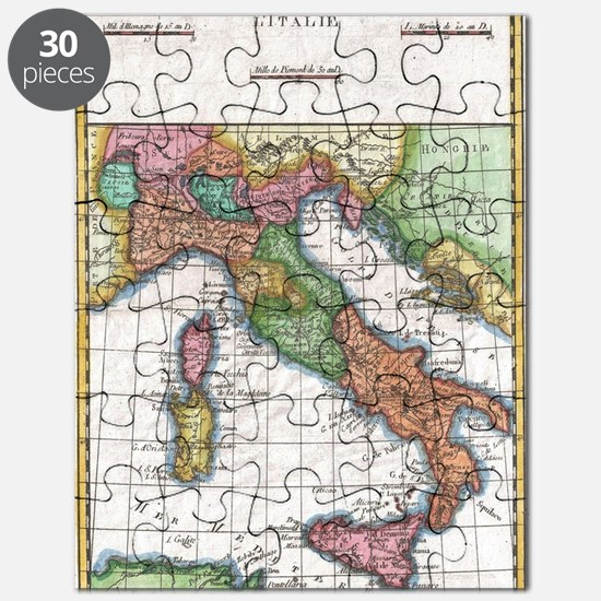 Vintage Map of Italy (1780) Puzzle