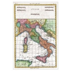Vintage Map of Italy (1780) Poster