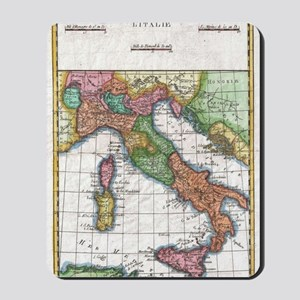 Vintage Map of Italy (1780) Mousepad