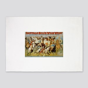 buffalo bill cody 5'x7'Area Rug