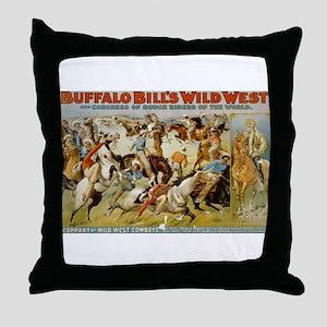 buffalo bill cody Throw Pillow