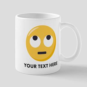 Eye Roll Emoji Personalized 11 oz Ceramic Mug