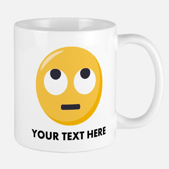Eye Roll Emoji Personalized Small Mug