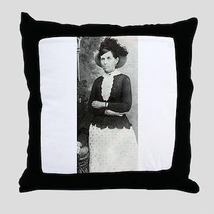 belle starr Throw Pillow
