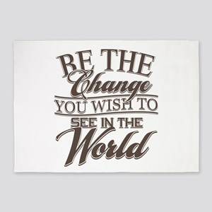 Be The Change 5'x7'Area Rug