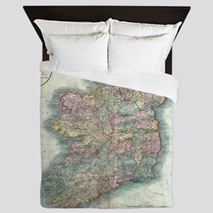 Vintage Map of Ireland (1799) Queen Duvet