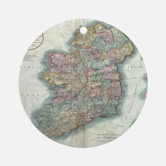 Vintage Map of Ireland (1799) Round Ornament