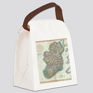 Vintage Map of Ireland (1799) Canvas Lunch Bag