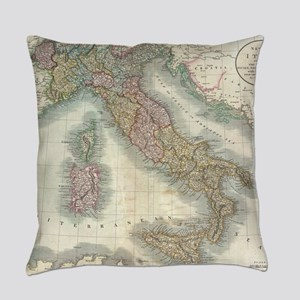 Vintage Map of Italy (1799) Everyday Pillow