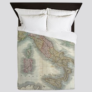 Vintage Map of Italy (1799) Queen Duvet