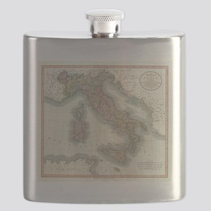 Vintage Map of Italy (1799) Flask