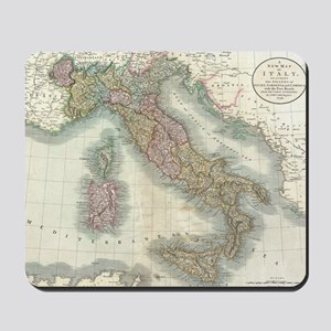 Vintage Map of Italy (1799) Mousepad