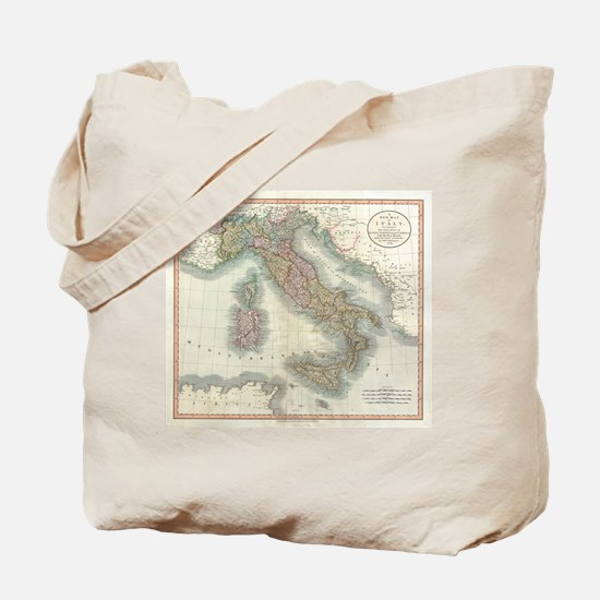 Vintage Map of Italy (1799) Tote Bag
