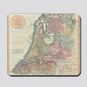 Vintage Map of the Netherlands (1799) Mousepad