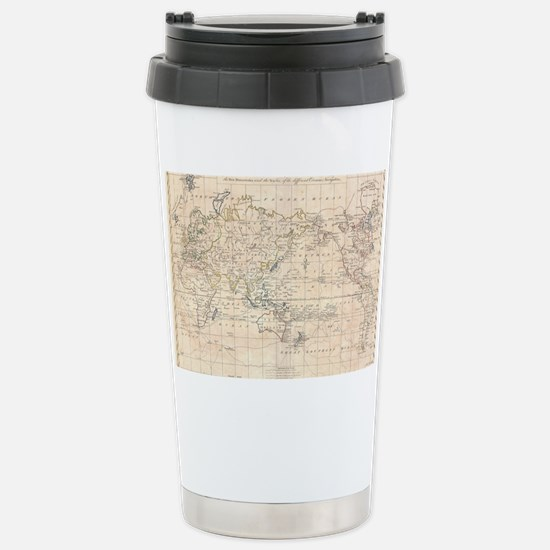Vintage Map of The Worl Stainless Steel Travel Mug