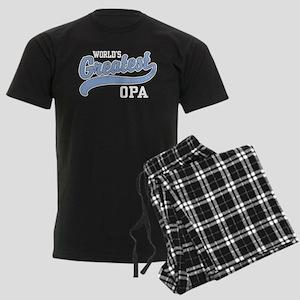 World's Greatest Opa Men's Dark Pajamas