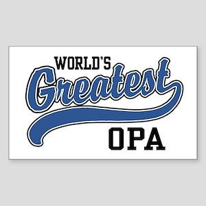 World's Greatest Opa Sticker (Rectangle)