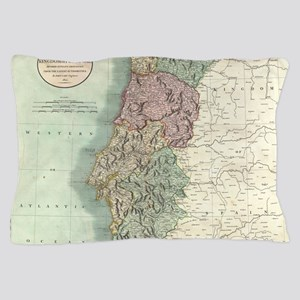 Vintage Map of Portugal (1801) Pillow Case