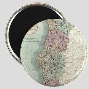 Vintage Map of Portugal (1801) Magnet
