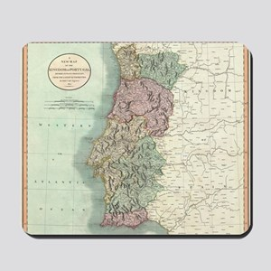 Vintage Map of Portugal (1801) Mousepad