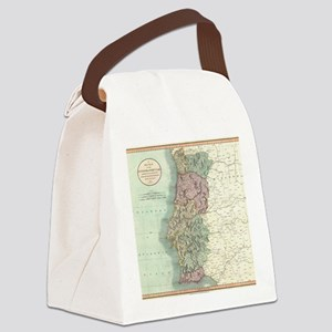 Vintage Map of Portugal (1801) Canvas Lunch Bag