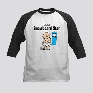 Future Snowboarder Boy Kids Baseball Jersey