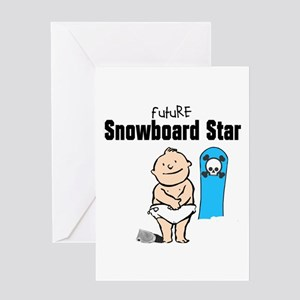 Future Snowboarder Boy Baby Card