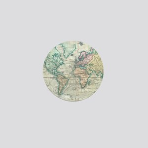 Vintage Map of The World (1801) Mini Button