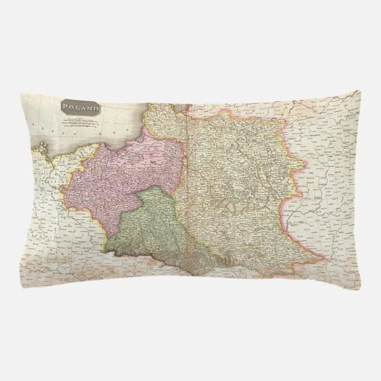 Vintage Map of Poland (1818) Pillow Case